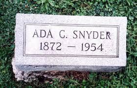 Ada Catherine Snyder (Sprow) (1872 - 1954) - Genealogy