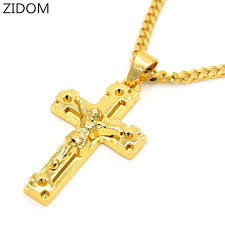 gold color cross pendants high