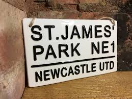 Newcastle Utd St James Park London Street Signs Football Wall Etsy
