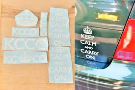 Buy 7 Pack Keep Calm And Carry On Vinyl Decal Kcco Sticker Motorcycle In Rochester New York Us For Us 12 95