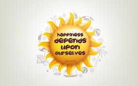 تحميل خلفيات السعادة تعتمد على أنفسنا 3d الشمس ونقلت إيجابية