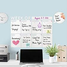 Amazon Com Modern 2019 Dry Erase Weekly Week Of Wall Decal Calendar W Dry Erase Marker A Todeco Product Office Products