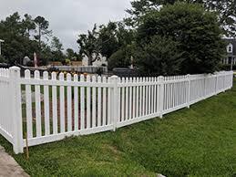 Vinyl Fence Installation Repair Services Wilmington Nc