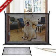 Magic Dog Gate Ingenious Mesh Dog Fence For Indoor And Outdoor Safe Pe Jubilantdogs Com