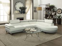 16967 sectional sofa in white light