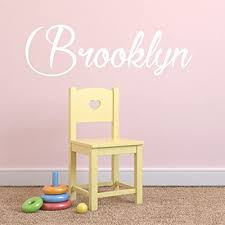 Fancy Cursive Single Personalized Custom Name Vinyl Wall Art Decal Sticker 40 W Girl Name Decal