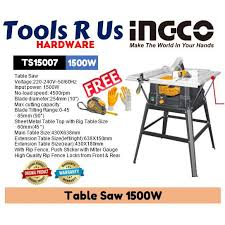 Ingco Table Saw 1500w Shopee Philippines