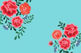 papier peint à fleurs frida kahlo bleu