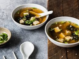 japanese miso soup with oyster