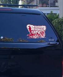 04 05 01 Oklahoma Sooner Schooner Logo Vinyl Decal Sticker Car Window Big 12 Ebay