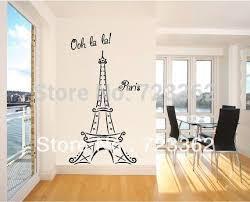 Eiffel Tower Ooh La La Paris 6ft Tall Wall Sayings Decal Vinyl Wall Art Words Vinyl Lettering Art Applique Wall Decals Letter Pressletter Jewellery Aliexpress