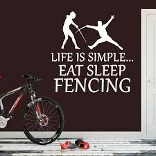 Life Is Simple Fencing Vinyl Wall Sticker Wall Decal Etsy