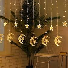 Đèn LED Trăng Sao Dây Đèn Đèn Giáng Sinh Ngoài Trời Trong Nhà Đèn LED Trang  Trí Ngày Lễ Chiếu Sáng Đảng Tiệc Cưới|