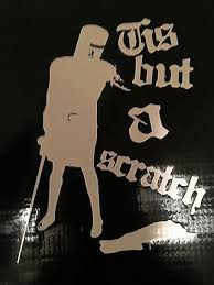 Black Knight Tis But A Scratch Monty Python Decal Sticker Vinyl Laptop Car 5 Ebay