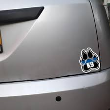 Yjzt 11 2 13 1cm Police K9 Paw Decal Retro Reflective Decals Car Windo Bargain Industries