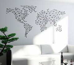 Free Shipping Art Wall Sticker Special World Map Geometric Design World Map Wall Decals Vinyl Home Decor Wall Mural Poster Y 793 Poster Design Poster Worldworld Poster Aliexpress