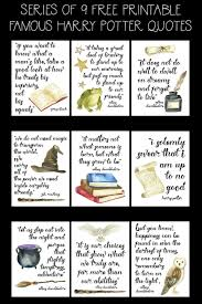 printable famous harry potter quote series the happy housie