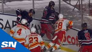 Adam Lowry Given Boarding Penalty For Dangerous Hit To Oliver Kylington -  YouTube