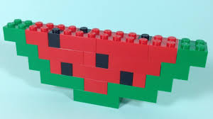 How To Build Lego Watermelon 4628 Lego Fun With Bricks Building Ideas For Kids Youtube
