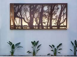Large Metal Wall Art Decor Outdoor Garden Sculptures Metal Screens Melbourne