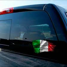 Tattered Italy Flag Decal Italian Rome European Sticker