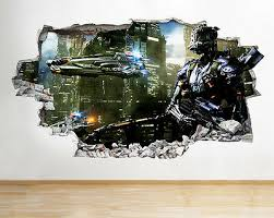 Wall Decals Stickers Wall Stickers Police Car City Boys Cool Smashed Decal 3d Art Vinyl Room Bb026 Home Furniture Diy Tallergrafico Com Uy