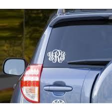 Monogrammed Car Decal Vinyl Sticker Interlocking Vine Personalized Monogram Sign
