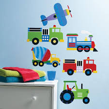 Train Airplane Fire Trucks Tractor Boy Wall Decals Peel Stick Wall M Kidsroomtreasures Com