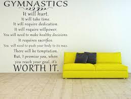 Gymnastics Vinyl Wall Decal Gymnast Wall Quote Girls Room Etsy