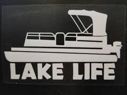 Lake Life Decal For Pontoon Decals For Car Truck Rv Window Etsy