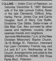 Obituary for Addie COLLINS - Newspapers.com