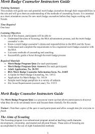 merit badge counselor instructors guide