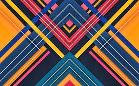 تحميل خلفيات تصميم المواد خطوط ملونة الروبوت مصاصة مثلثات