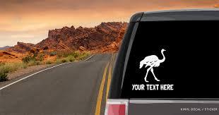 Ostrich Silhouette Car Window Decal Vinyl Sticker Custom Gifts Etc