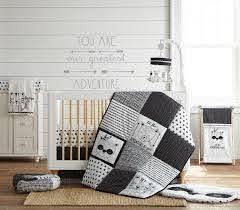 Levtex Baby Allistar Crib Bed Set Baby Nursery Set Black And White Animals 4 Piece Set Includes Quilt Fitted Sheet Wall Decal Dust Ruffle Walmart Com Walmart Com