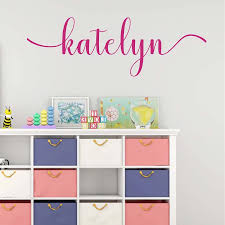 Girl Nursery Decor Personalized Wall Decal For Teen Girl Room Removable Wall Sticker Nursery Name Vinyl Wall Stickers 8141c Wall Stickers Aliexpress