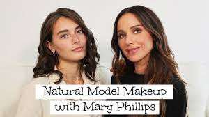 natural model makeup simple routine
