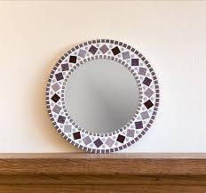 purple wall art mosaic mirror mosaic