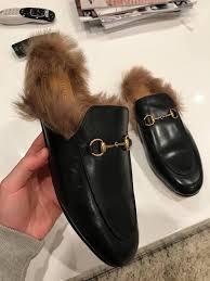 gucci black horsebit princetown leather