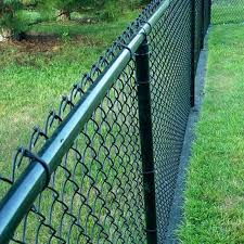 China 5 High Black Vinyl Coated Chain Link Fence With Top Rail China Garden Fencing Chain Link Garden Fencing