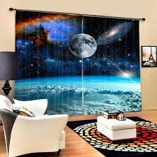 Star Wars Theme Outer Space With Clouds Luxury Galaxy 3d Blackout Curtain Interior Design Genie