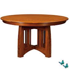 mackinaw round amish dining table