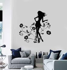 Wall Decal Girls Flowers Beautiful Room Floral Decor Vinyl Stickers Un Wallstickers4you