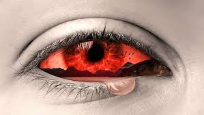 red eye with tears photo manition