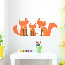 Fox Family Wall Decal Children S Wall Decals Wallums