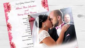 72 wedding program template free