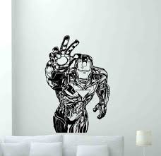 Iron Man Wall Decal Sign Vinyl Sticker Avengers Stencil Etsy