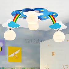 4 Light Cloud Shaped Kids Room Ceiling Lighting