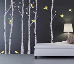 Realistic Birch Tree Wall Decals Home Inspirations Aesthetic Birch Tree Wall Decal
