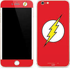 Amazon Com Skinit Decal Phone Skin Compatible With Iphone 6 6s Plus Officially Licensed Warner Bros The Flash Emblem Design